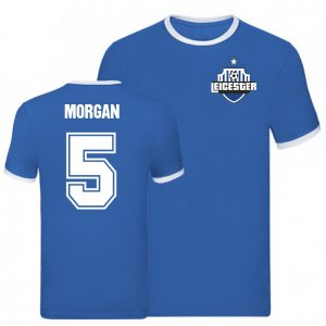 Wes Morgan Leicester Ringer Tee (Blue)