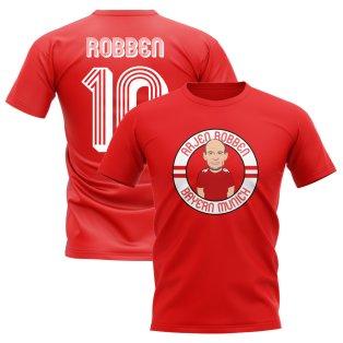 Arjen Robben Bayern Munich Illustration T-Shirt (Red)