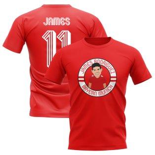 James Rodriguez Bayern Munich Illustration T-Shirt (Red)