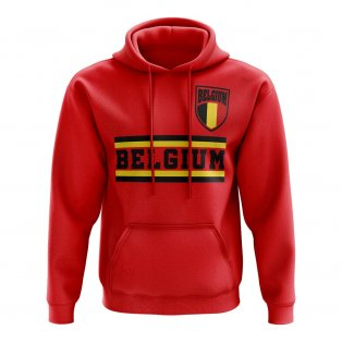 Belgium Core Football Country Hoody (Red)