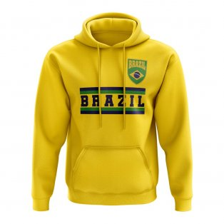 Brazil Core Football Country Hoody (Yellow)