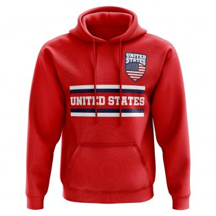 United States Core Football Country Hoody (Red)