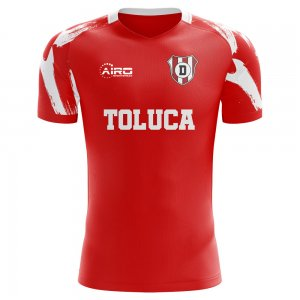 2019-2020 Deportivo Toluca Home Concept Football Shirt - Kids