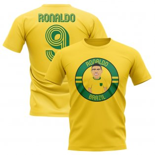 Ronaldo Brazil Illustration T-Shirt (Yellow)