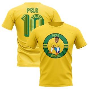 Pele Brazil Illustration T-Shirt (Yellow)