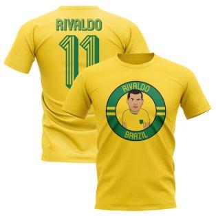 Rivaldo Brazil Illustration T-Shirt (Yellow)