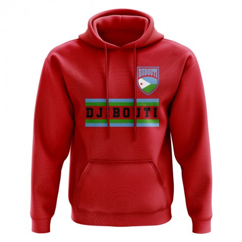 Djibouti Core Football Country Hoody (Red)