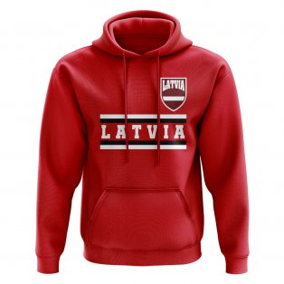 Latvia Core Football Country Hoody (Red)