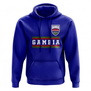 Gambia Core Football Country Hoody (Royal)