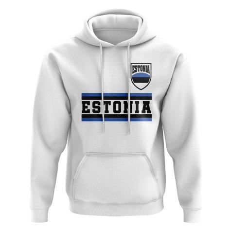 Estonia Core Football Country Hoody (White)