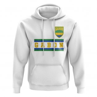 Gabon Core Football Country Hoody (White)