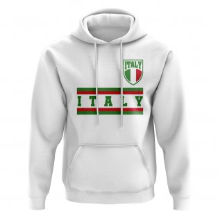 Italy Core Football Country Hoody (White)