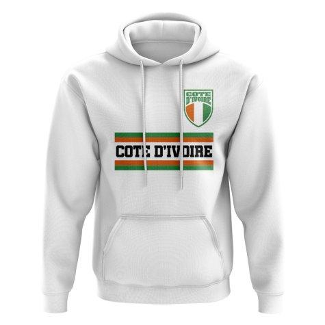 Ivory Coast Core Football Country Hoody (White)