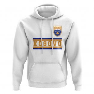 Kosovo Core Football Country Hoody (White)