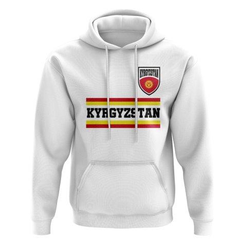 Kyrgyzstan Core Football Country Hoody (White)