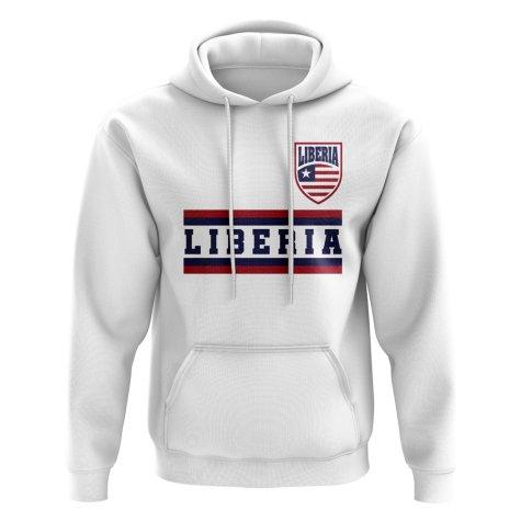 Liberia Core Football Country Hoody (White)