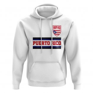 Puerto Rico Core Football Country Hoody (White)