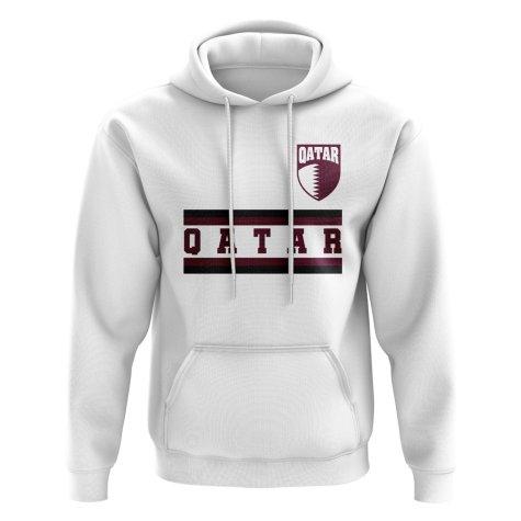 Qatar Core Football Country Hoody (White)