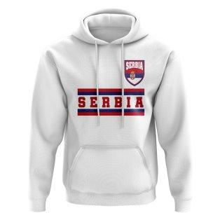 Serbia Core Football Country Hoody (White)
