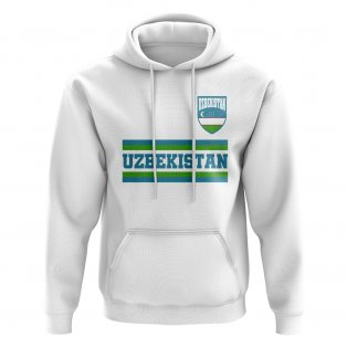 Uzbekistan Core Football Country Hoody (White)