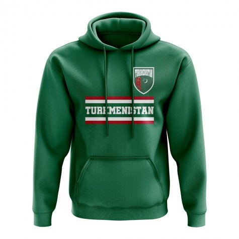 Turkmenistan Core Football Country Hoody (Green)
