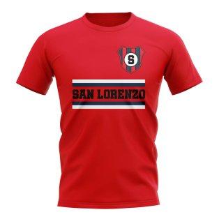 San Lorenzo Core Football Club T-Shirt (Red)