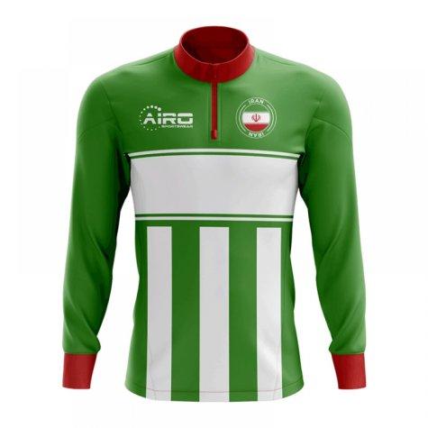 Iran Concept Football Half Zip Midlayer Top (Green-White)