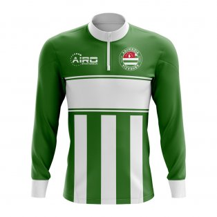 Abkazia Concept Football Half Zip Midlayer Top (Green-White)
