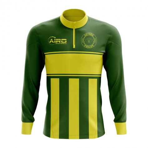 Adygea Concept Football Half Zip Midlayer Top (Green-Yellow)