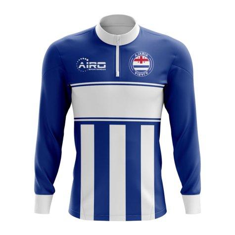Ajaria Concept Football Half Zip Midlayer Top (Blue-White)