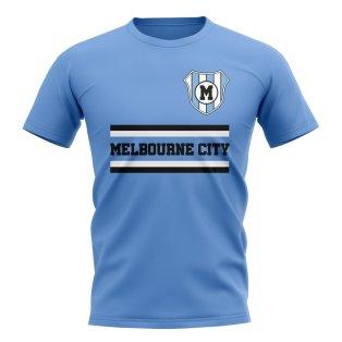 Melbourne City Core Football Club T-Shirt (Sky)