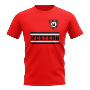 Western Sydney Warriors Core Football Club T-Shirt (Red)