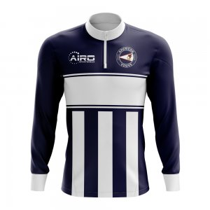 American Samoa Concept Football Half Zip Midlayer Top (Navy-White)