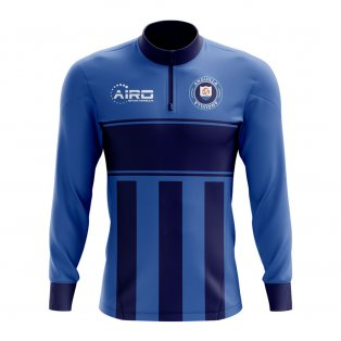 Anguilla Concept Football Half Zip Midlayer Top (Blue-Navy)