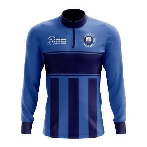 Anguilla Concept Football Half Zip Midlayer Top (Blue-Navy)