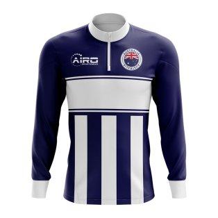 Australia Concept Football Half Zip Midlayer Top (Navy-White)