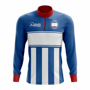 Crimea Concept Football Half Zip Midlayer Top (Blue-White)