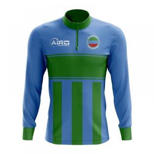 Dagestan Concept Football Half Zip Midlayer Top (Blue-Green)