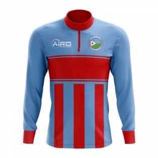Djbouti Concept Football Half Zip Midlayer Top (Blue-Red)