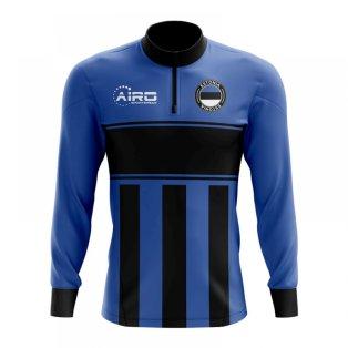 Estonia Concept Football Half Zip Midlayer Top (Blue-Black)
