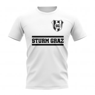 Sturm Graz Core Football Club T-Shirt (White)