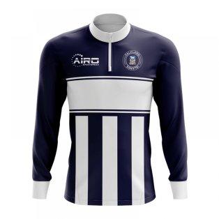 Falkland Islands Concept Football Half Zip Midlayer Top (Navy-White)