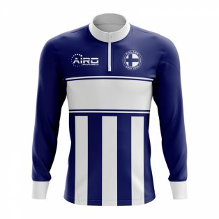 Finland Concept Football Half Zip Midlayer Top (Navy-White)