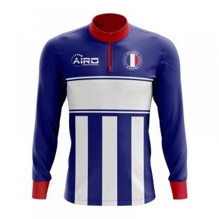 France Concept Football Half Zip Midlayer Top (Blue-White)
