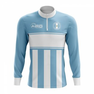 Guatemala Concept Football Half Zip Midlayer Top (Sky Blue-White)