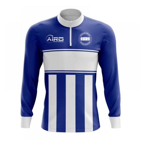 Honduras Concept Football Half Zip Midlayer Top (Blue-White)