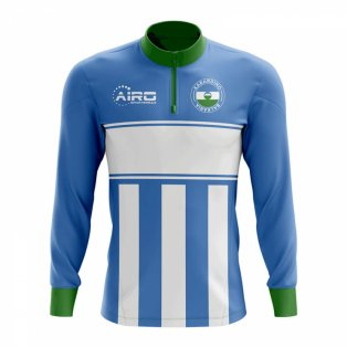 Kabardino-Balkaria Concept Football Half Zip Midlayer Top (Sky Blue-White)