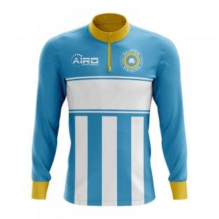 Kalmykia Concept Football Half Zip Midlayer Top (Sky Blue-White)