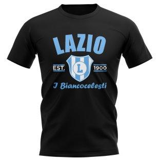 Lazio Established Football T-Shirt (Black)