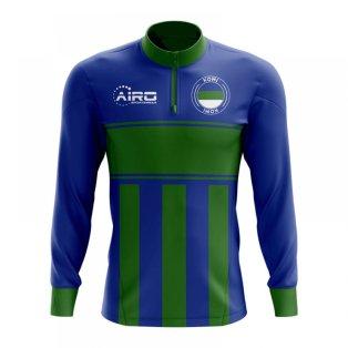Komi Concept Football Half Zip Midlayer Top (Blue-Green)